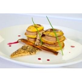 Almás libamájtorony - libamáj recept