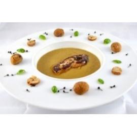 Gesztenyekrém leves roston libamájjal - libamáj recept