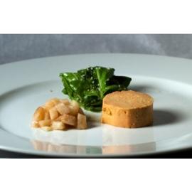 Libamájblokk fehérboros almaraguval és spenóttal - libamáj recept
